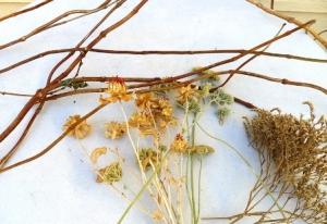 Materials to make vine wreath