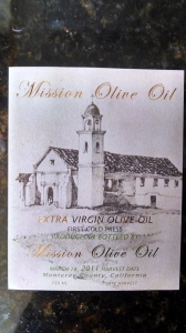 Mission olive oil label