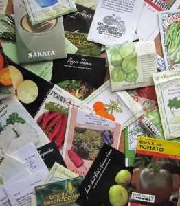 Seeds are great garden planning tools, because they include valuable growing information.