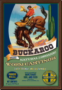 Apple growers in California buy buckaroo worm castings to make fruit tastier.