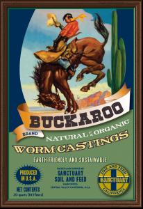 Bag of Buckaroo worm castings